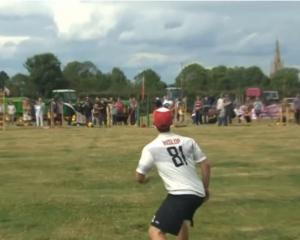 The annual World Egg-Throwing Championships are held in the English village of Swaton,...