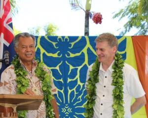 Cook Islands Prime Minister Henry Puna (left) with NZ Prime Minister Bill English. Photo: NZ Herald