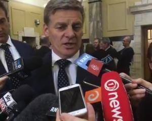 Prime Minister Bill English addresses the media about Clutha-Southland MP Todd Barclay.