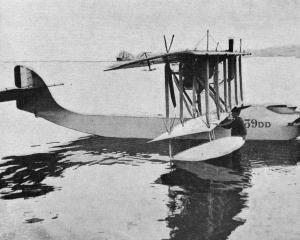 A French naval hydroplane, showing the wonderful perfection to which our ally's naval aircraft...