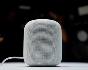 A prototype Apple HomePod is seen during the annual Apple Worldwide Developer Conference (WWDC) in San Jose, California. Photo: Reuters