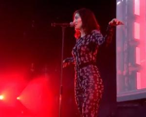 Lorde's debut at Glastonbury music fest in UK, 2017. Photo: Twitter