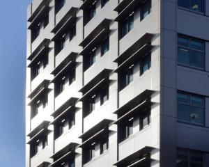 The University of Otago's microbiology building was reclad with aluminum composite panels in 2008...