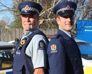 Balclutha-based Constable Tom Taylor (left) and his son, Constable Edsel Taylor, who will head...