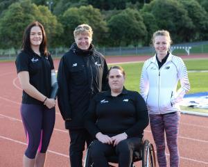 Otago athletes (from left, Holly Robinson, Raylene Bates, Jess Hamill and Anna Grimaldi at the...
