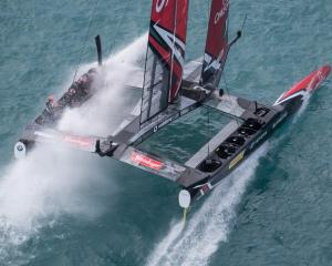 Team New Zealand will race Oracle in the Americas Cup finals. Photo: ACEA 2017