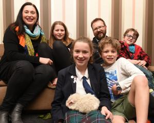 The Pettigrew family with Thomas the guinea pig (from left) Rachel, Aila (11), Freya (13), Nathan...