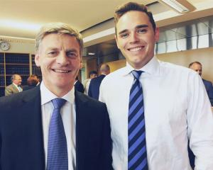 Prime Minister Bill English and Clutha-Southland MP Todd Barclay. Photo: Facebook