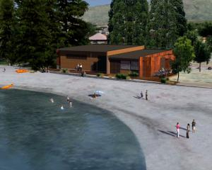 An architect's image of the proposed Wanaka Watersports Facility. Image: Supplied