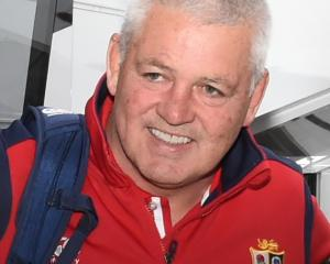 Warren Gatland at Dunedin Airport.