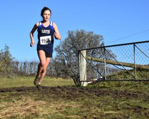 Dunedin student Sophie Smith competing in the Otago cross-country championships in Waikouaiti...