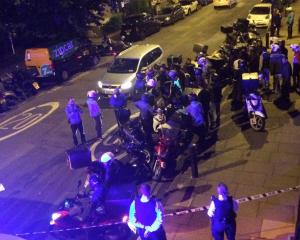 Emergency response following acid attack on the junction of Hackney Road junction with...