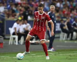 Marco Friedl of Bayern Muenchen runs with the ball during the International Champions Cup 2017...