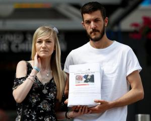The parents of critically ill baby Charlie Gard, Connie Yates and Chris Gard. Photo: Reuters