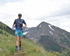 Grant Guise competes in the Hard Rock 100 in Colorado earlier this month. Photo: Joey Schrichte