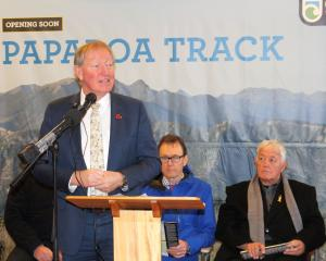 Environment Minister Nick Smith announces the start of the Paparoa Track 'great walk' and Pike...