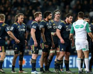 Highlanders players during their match against the Reds last weekend. Photo: Getty Images