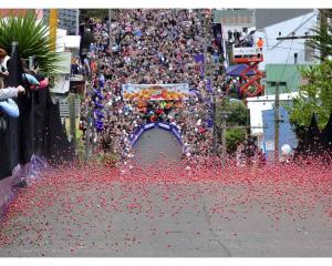 The annual Cadbury Jaffa Race was held on Friday at Dunedin's Baldwin Street, the steepest street...