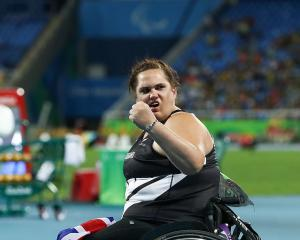 Jess Hamill celebrates after claiming her bronze medal in Rio last year. Photo: Getty Images