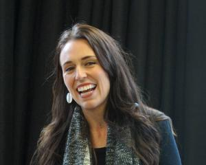 Labour Party deputy leader Jacinda Ardern addresses  a crowd of mainly students at the Otago...