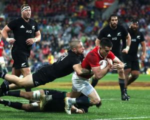 Conor Murray of the Lions scores his sides second try. Photo: Getty