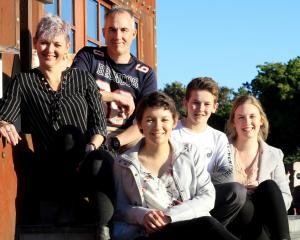 Oamaru's Crossan family (from left) Kara, Brent, Hailey (18), Riley (13), and Tyla Crossan (17). ...