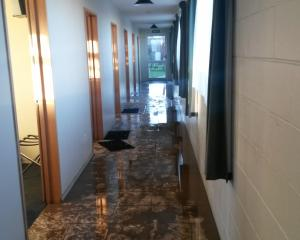 Inside the west wing of North Otago Hotel and Motels. This is the area where truck drivers slept....