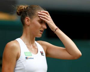 Czech Karolina Pliskova is out of title contention after she lost her second round match against...