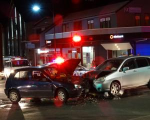 A head-on crash in Queenstown this morning between a Toyota Starlet and Suzuki Aerio on the...