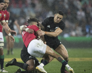 Sonny Bill Williams was red carded for this tackle. Photo: NZ Herald