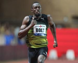 Usain Bolt running in Monaco last week. Photo: Getty Images