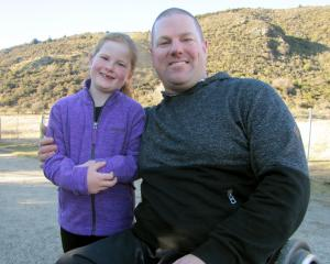 Newly elected Queenstown Lakes District councillor Quentin Smith and his daughter Madison (7)...