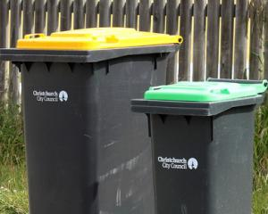 Police are investigating a spate of wheelie bin fires in Christchurch. Photo: NZ Herald