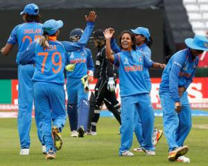 India's Poonam Yadav celebrates a wicket. Photo: Action Images via Reuters