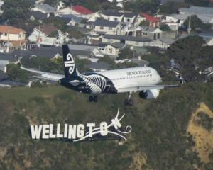 Flights in and out of Wellington are disrupted by weather this morning. Photo Twitter