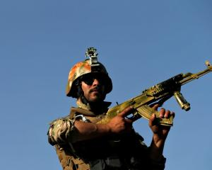 An Afghan security forces member. Photo: Reuters
