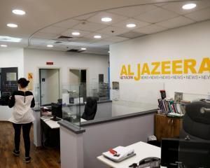 An Al Jazeera office in Jerusalem. Photo Reuters