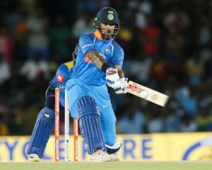 Shikhar Dhawan led India to victory over Sri Lanka. Photo Reuters