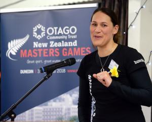 Former Silver Fern and Otago Community Trust New Zealand Masters Games ambassador Jodi Brown...