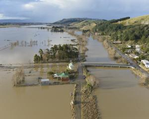 The Taieri River in flood at Henley last month. Photo: Gerard O'Brien.