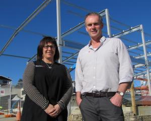 Karen and Rory McLellan in front of their new 900sqm showroom facility on the corner of Deel and...
