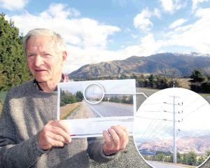 Riverbank  Rd resident John Young says Aurora Energy's proposal  to install big steel poles ...