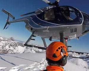 A team conducts avalanche zone testing in Fiordland. Screengrab: NZTA