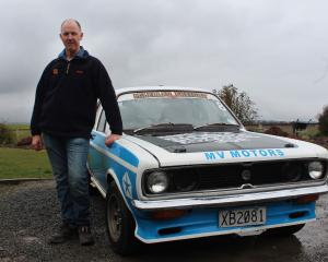 Farmer Barry Mills, of Te Houka, is taking his trusty 1977 Hillman Avenger on the  Catlins Rally...