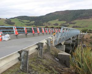Safety guard rails installed on the Ratanui Bridge are limiting visibility for oncoming traffic....