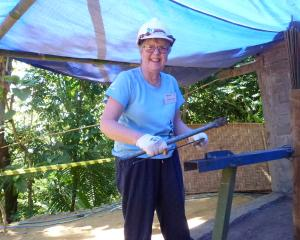 Catherine Brown, of Bannockburn, on the site of a Habitat for Humanity project in Indonesia....