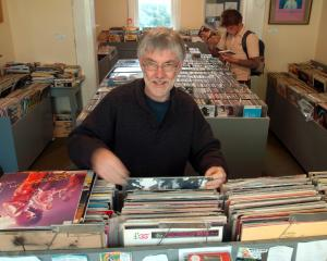 Roy Colbert in Records Records in 2005, shortly before selling the business. Photos: Craig Baxter.