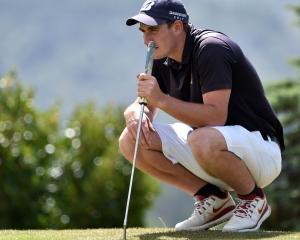 Otago Golfer Duncan Croudis during the New Zealand Open Regional Qualifing at the Balmacewen Golf...