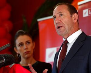 Labour Party leader Andrew Little with deputy leader Jacinda Ardern. Photo: Getty Images