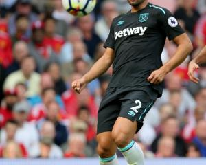 Winston Reid in action for West Ham. Photo Getty